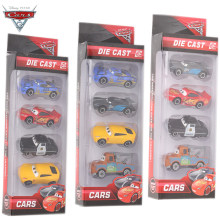 4pcs/set Disney Pixar Cars 3 Metal Black Storm Jackson Car Toy Kids Birthday Christmas Lightning McQueen Car Toys Boys Gift(China)