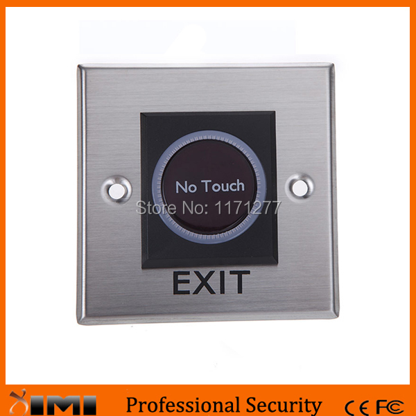 Free shipping stainless steel 10 pcs a lot for access control infrared swich exit button push access control exit button ...