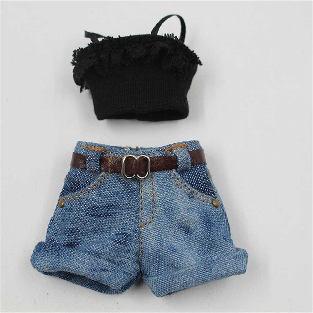 Одежда для 1/6 Блит костюм Матильда, профессиональный пальто джинсовые короткие бретели