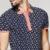 2017 verano moda para hombre polo camisas 100% de algodón de impresión azul Color de la Marca de Ropa de Hombre de Manga Corta Ropa de Hombre Slim Fit Tops