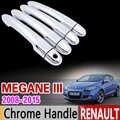 Auto Chrome Deurgreep Cover Trim voor Renault Megane 3 III MK3 2008 2009 2010 2011 2012 2013 2014 2015 coupe CC GT Accessoires