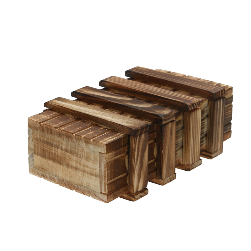Wooden Magic Box With Compartment Puzzle Secret Drawer Assembly Brain Teaser Box Kids Game Show Magic Box
