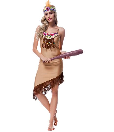 FREE SHIPPING Indian Costume Womens Pocahontas Adult Fancy Dress