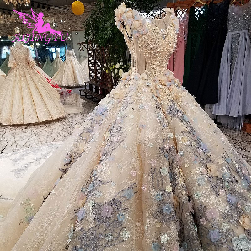 AIJINGYU Real Photo Gowns Women Bride New Free Shipping On Plus-Size Marriage Sale Gown Real Couture Wedding Dresses