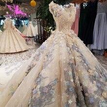 AIJINGYU vestidos de novia con foto Real para mujer