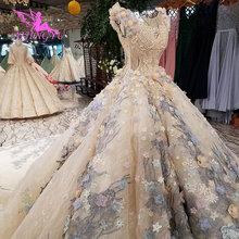 AIJINGYU فساتين زفاف حقيقية صور النساء العروس على حجم كبير الزواج بيع ثوب حقيقي كوتور فساتين الزفاف