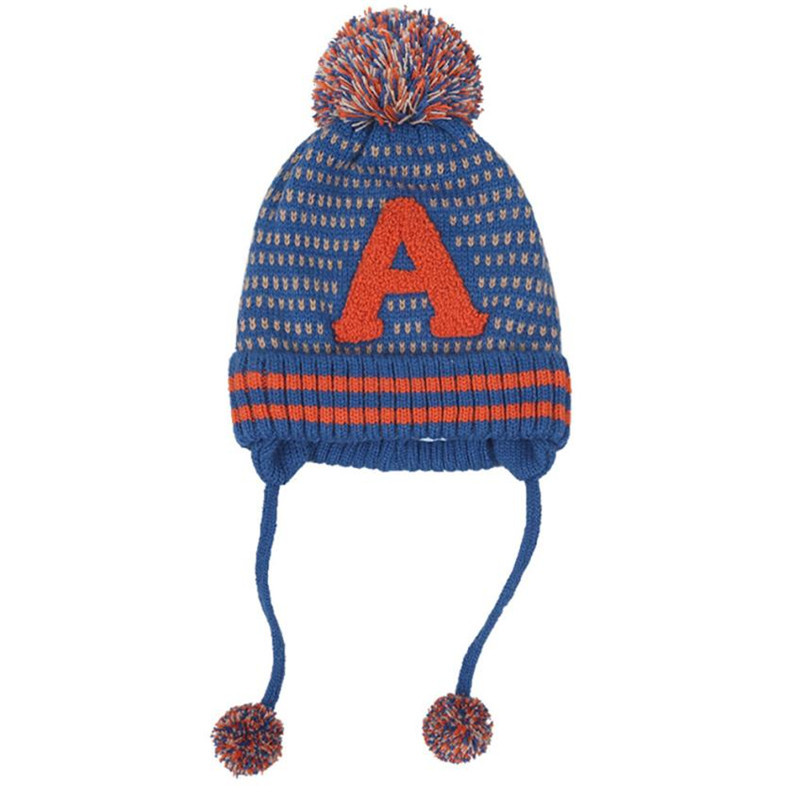 handmade kids baby winter hat Baby Boys Girls Beanie Letter Cotton Hat Children Print Knitting Hats baby boy hat