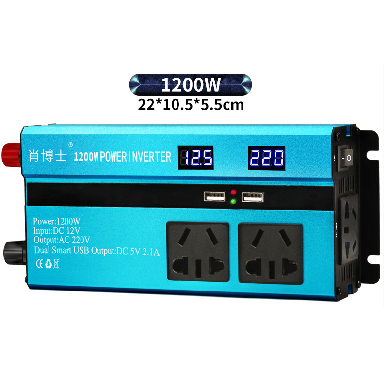 1200W DC12V/24V/48V/60V To AC220V Modified Sine Wave Power Inverter LED Display Charger Converter Adapter Car Vehicle / Home Use