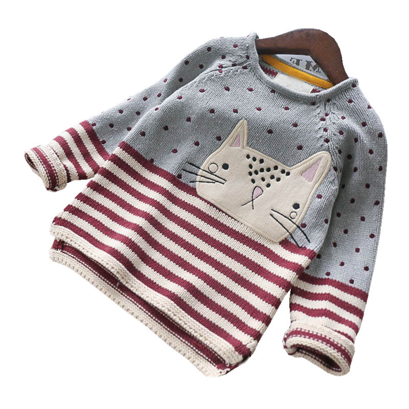 Y Baby Sweater For Girls Sweater For Girls costume Pantter Kids pullover cat Baby Girl Clothes Sweater Children's Clothes autumn sweater