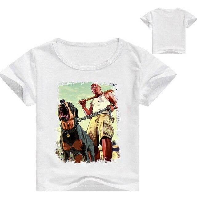 5a873ddf8ccc3 Z   Y 3 16Years Drôle T shirt Gta 5 Enfants Vêtements Bébé Fille ...