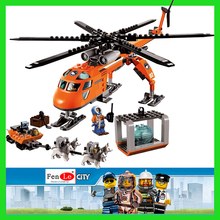 New Bela 10439 273pcs City Arctic Helicrane Helicopter Building block toys for Chindren(China)