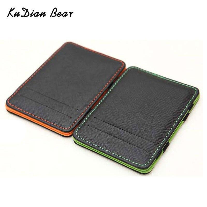 KUDIAN BEAR Minimalist Men Wallet Rfid Slim Card Organizer Purse Magic carteras Minimalista BID222 PM49