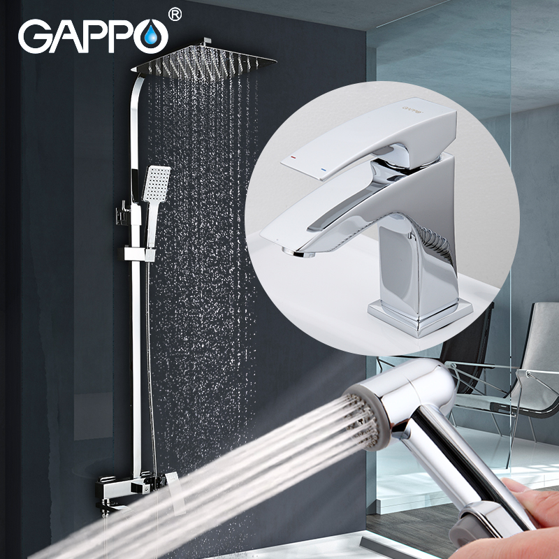 GAPPO shower faucets rainfall shower set bathtub faucet bathroom faucet shower head set Sanitary Ware Suite 2pcs universal car daytime running light led cob 12v drl auto driving front fog lamp white bulb waterproof 6000k