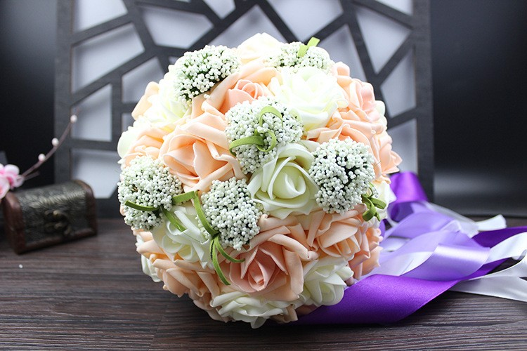 Wedding Bouquet de mariage Bridal Bouquet Wedding Bouquet Bridesmaid Artificial flower Boeket buques de noivas Bruidsboeket (7)