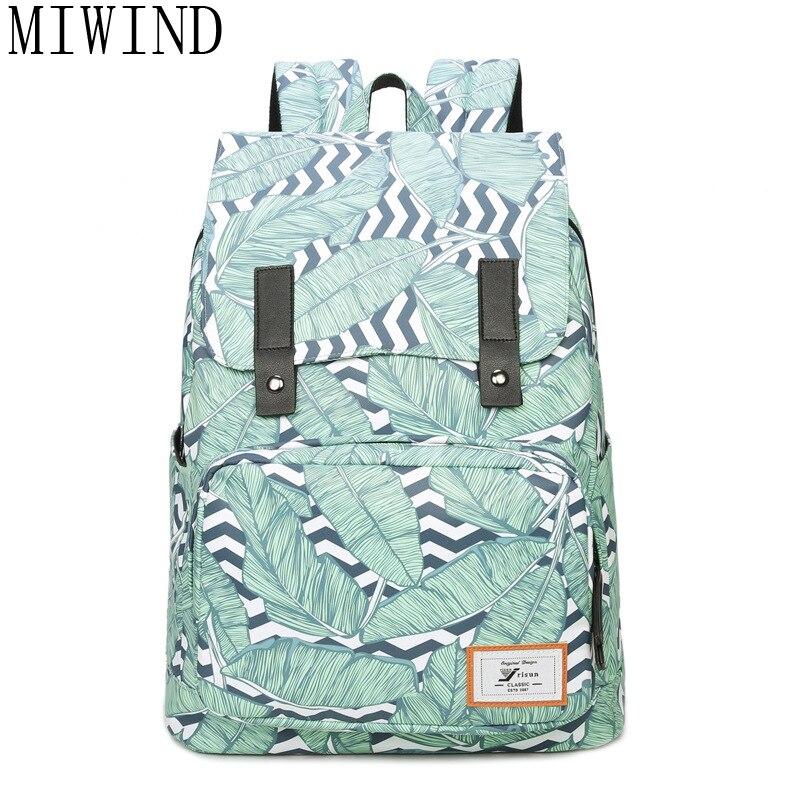 MIWIND conception 3D impression sac à dos sacs d'école pour adolescentes sacs à dos femmes Polyester sac à dos TJQ960