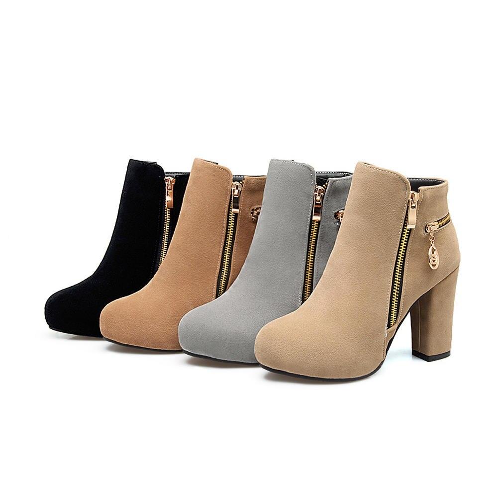 1d16b10b7 KarinLuna 2018 Plataforma de Salto Alto Sapatos de Mulher Grande Tamanho 33  43 Zip Up Ankle Boots Mulher Adicionar Pele do Inverno botas Sapato Feminino  em ...