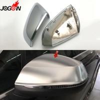 Матовое серебро для Audi Q7 SQ7 4 м 2016 19 Q5 FY 2018 2019 автомобилей Сторона крыло обратно Зеркало заднего вида Замена крышки Lane Assist Chrome