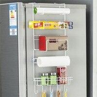 OUNONA рефрижератор шкаф для хранения многослойный Холодильник боковой органайзер, стеллаж для дома подвесной Стеллаж Держатель для кухни ст...