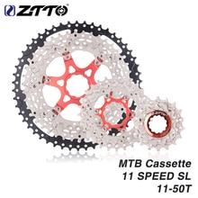 ZTTO MTB 11 Speed SL Cassette 11s 11-50T Wide Ratio UltraLight Freewheel Mountain Bike Bicycle Parts For K7 X1 XO1 XX1 M9000 цена 2017