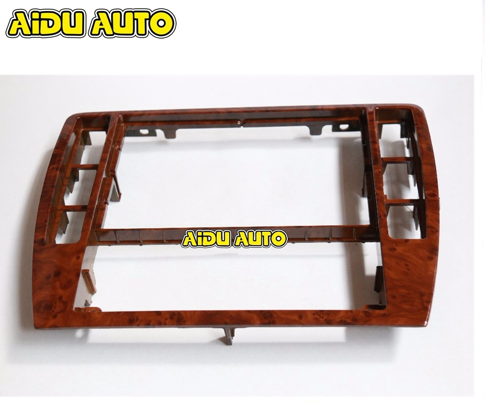 3b0858069 For Vw Passat B5 Mahogany Style Dashboard Frame Radio Wooden Panel Upgrade 3b0 858 069 In Fascias From Automobiles Motorcycles On