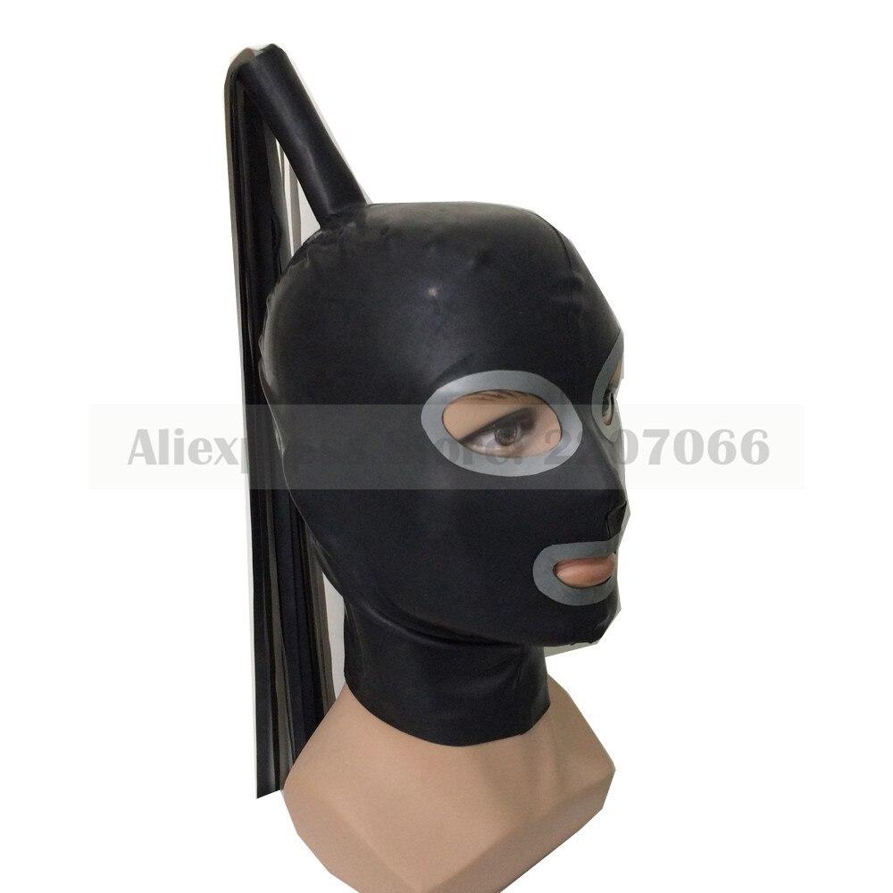Hottes en Latex avec perruque de serveuse exotique fait à la main taille personnalisée masque fétiche chaud héroïne capuche femmes couvre-chef RLM070