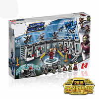 the Super Heroes Iron Man Hall of Armour 07121 Compatible the MARVELED 76125 Set Building Blocks Bricks DIY Toys Birthday