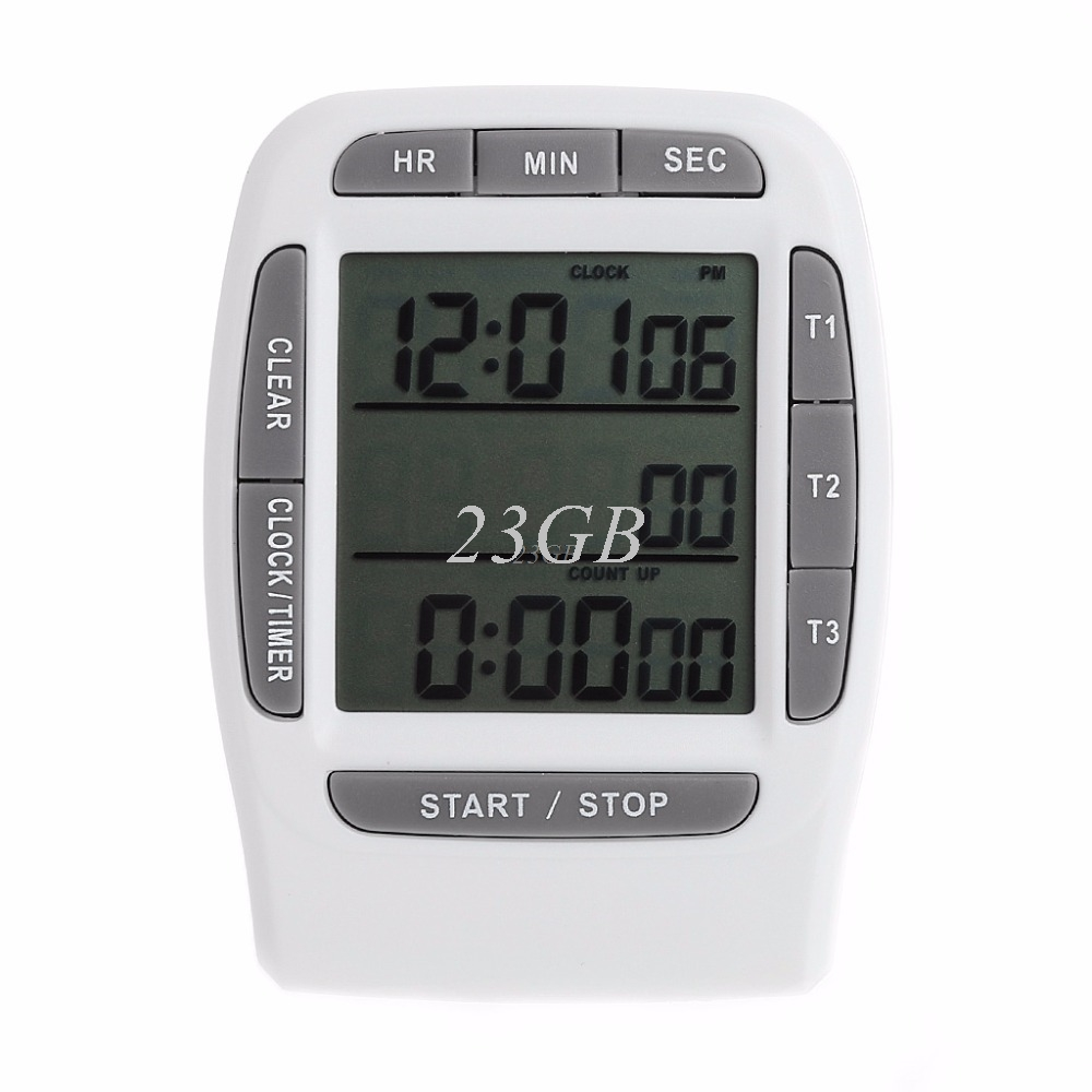 2017 NEW Digital LCD Multi-Channel Timer CountDown Laboratory 3 Channel Timers 99 Hours MAY02_20 2018 new 99