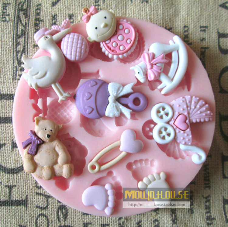3D Cute Mini Baby Doll Theme Food Grade Silicone Fondant Mold Chocolate  Cake Decorating Mould For Polymer Clay Crafts In Cake Molds From Home U0026  Garden On ...