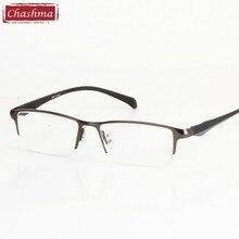 Chashma 2017 New Men's Glasses Frame Titanium Optical Half Frame Eyewear Eyeglasses Square Classic oculos de grau