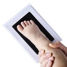 1pc Newborn Baby Handprints Mud Non-Toxic Infant Souvenir Footprints Imprints Kit Pad Casting Child Infant Novelty Funny Inkpad