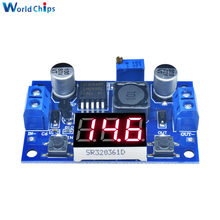 Módulo conversor de potencia reductor LM2596 DC, regulador de tensión regulable con voltímetro LED, DC/DC 4,0 ~ 40V a 1,25-37V 2A