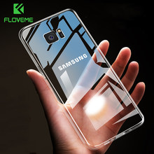 FLOVEME Case For Samsung Galaxy Note 9 8 S9 S8 Plus S7 Edge HD Clear Soft TPU Phone Cases For Samsung A5 A3 A7 2017 Cover Capa(China)