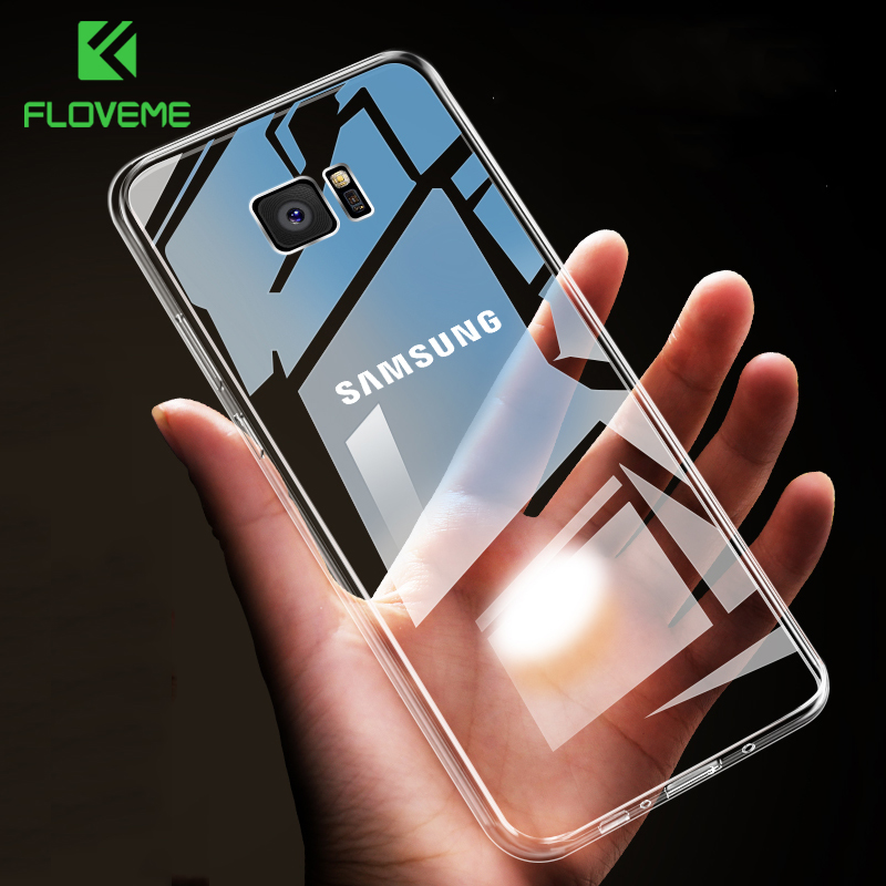 FLOVEME <font><b>Case</b></font> For <font><b>Samsung</b></font> Galaxy Note 9 8 S9 S8 Plus S7 Edge HD Clear Soft TPU <font><b>Phone</b></font> <font><b>Cases</b></font> For <font><b>Samsung</b></font> <font><b>A5</b></font> A3 A7 <font><b>2017</b></font> Cover Capa image