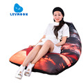 LEVMOON Beanbag Sofa Chair V-STAR Seat Zac Comfort Bean Bag Bed Cover Without Filler Cotton Indoor Beanbag Lounge Chair