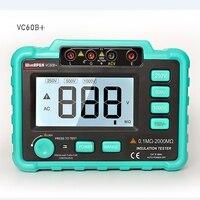 Digital Insulation Resistance Meter VC60B+Megohm Megohmmeter Earth Ground Resistance Impedance Tester Short Circuit DC250V/1000V
