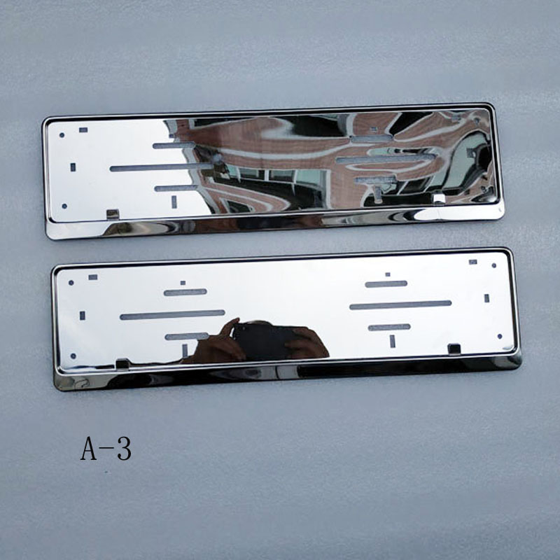 Image 3 - For EU Car License Plate Frame metal Car License Plate Frame Number plate Holder 2pcs-in License Plate from Automobiles & Motorcycles