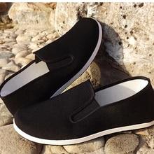 Обувь из хлопка наивысшего качества; Цвет Черный; Винтажная обувь Брюса Ли в китайском стиле кунг-фу; тапочки с крыльями Чун Тай Чи; обувь из чистого хлопка для боевого искусства