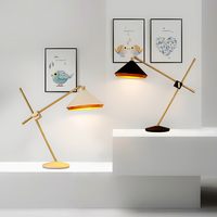 Американская Мода ретро настольная лампа спальня прикроватные лампы Железный корабль творческий защита глаз настольные лампы