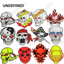 Hot Car Motorcycle Parts ATV Racing Bike Skull Crossbones Sticker Decals Individualized For Chopper Cruiser Bikes UNDEFINED