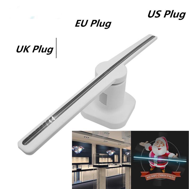 LumiParty 42 CM 224LED 3D projecteur holographique avis joueur hologramme publicité affichage ventilateur blanc