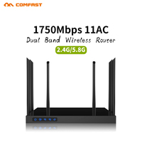 1750 Mbps Draadloze WIFI Router High Power 2.4G/5 GHz OpenWRT point AP WiFi Repeater met 6 * 6dBi Antennes Extender Boosters