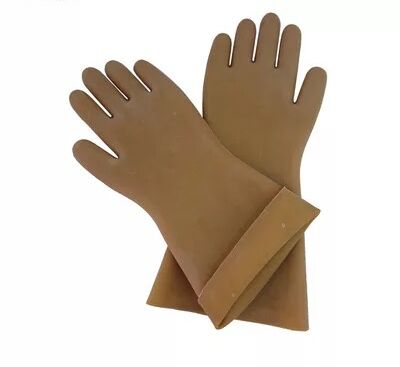 ФОТО 5KV insulated gloves electrician prevent electric live working gloves rubber
