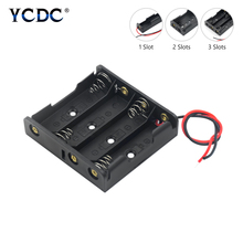 Durable Plastic AA LR6 HR6 Battery Storage Case Box + Cable Leads For 1 2 3 4 8x AA LR6 HR6 Batteries Black Plastic Case Holder cheap YCDC Battery Storage Box AA BATTERY CASE HOLDER For AA(LR6 HR6 MN1500 15A 15AC AM4) 1 5V alkaline or 1 2V Ni-MH or Ni-Cd rechargeable cells