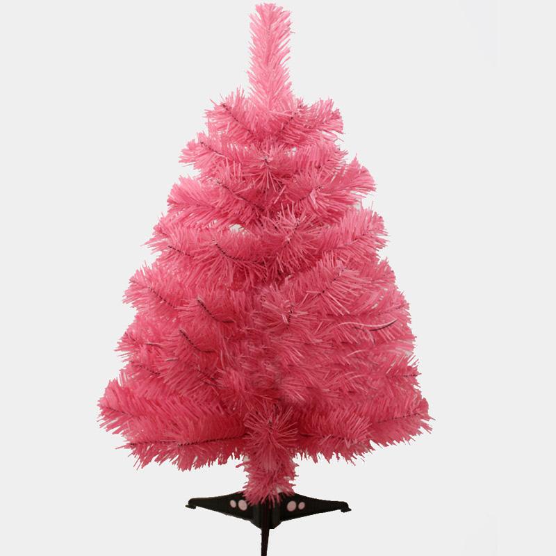 60cm Pink Color Christmas Tree Creative Encryption Christmas Table