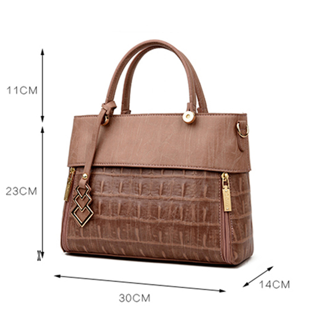 YILIAN Brand 2017 fashion women bag Split Leather women handbag shoulder Messenger bags Crocodile pattern Large capacity luxury