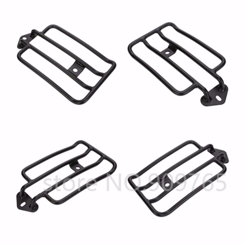 Black Solo Luggage Carrier Rear Fender Rack For 2004 Up
