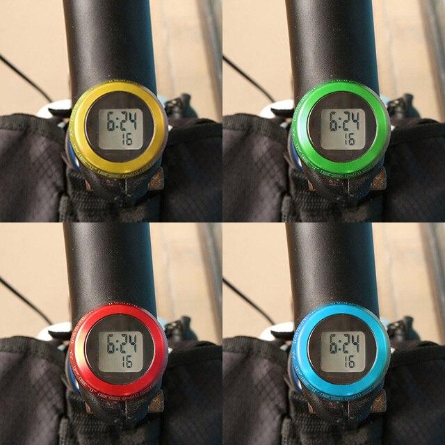 Mtb Road Bike Bicycle Headset Stem Watch Computer Bike Vehicle Clock