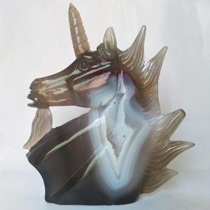 Image 5 - Sculpture créative en pierre naturelle, cristaux dagate, sculpture créative, décoration pour la maison, noble et pure