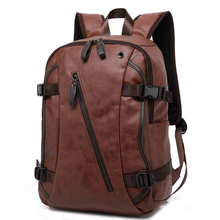 Brand Vintage Style Leather Backpack Male School Bags Leisure Travel Backpacks Daypacks Mochila Men Backpacks Bags for Teenagers стоимость