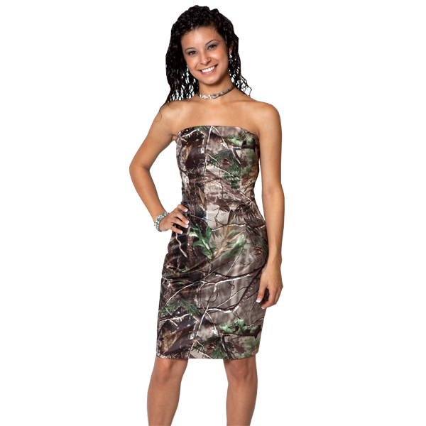sexy strapless short cocktail camo prom dress 2017 new styles realtree  camouflage party gowns 92a9dbccd9d5